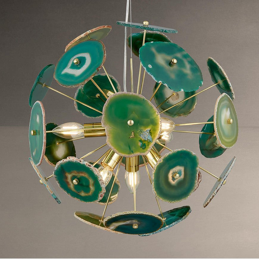 Delilah Agate Stone Pendant Ceiling Light in green from John Lewis Palazzo Collection