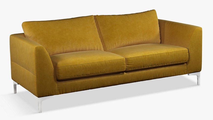 Belgrave yellow velvet sofa from the Palazzo Collection by John Lewis & Partners