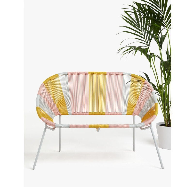 Salsa 2-Seater Garden Sofa in Pastel Ombre by John Lewis & Partners