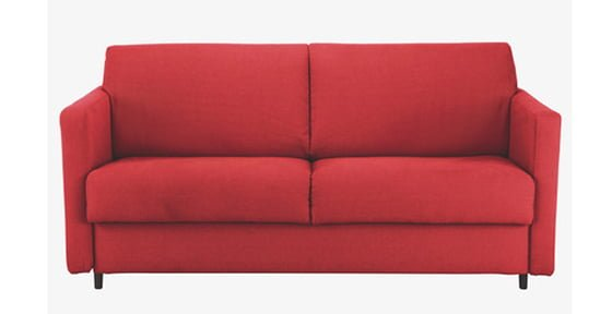 Habitat Howi small contemporary sofa bed in bright red