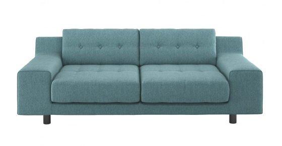 Habitat Hendricks Teal Blue Sofa