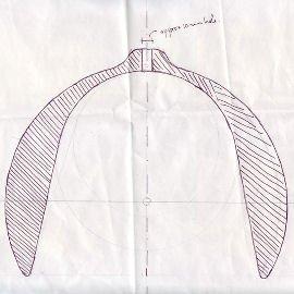 Sketch of wooden light
