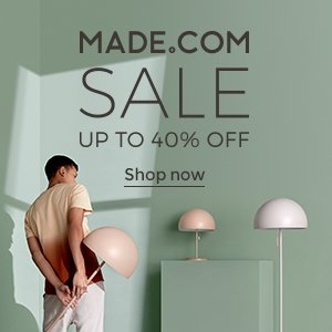 Made.com sale of contemporary furniture and lighting