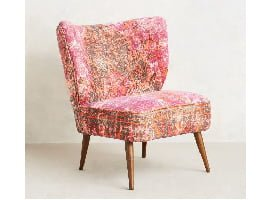 Pink Moresque Accent Chair by Anthropologie