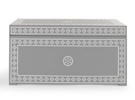 Grey and white Jasmine Storage Box