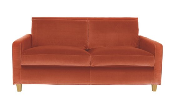 Habitat Chester Sofa in orange velvet