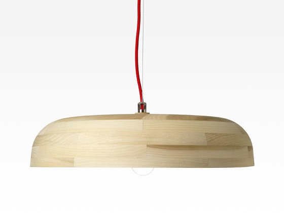 Portobello timber pendant light in light tulip wood