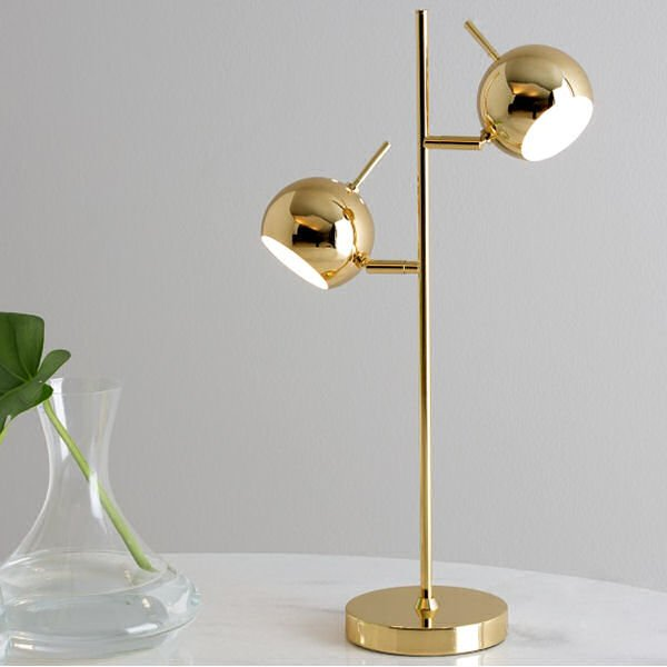 Austin Contemporary Brass Desk/Table Lamp