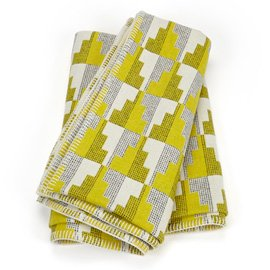Easterly Woven Woollen Throw by contemporary textiles designer Eleanor Pritchard