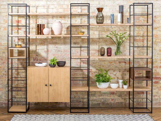 The Tower Modular Shelving Unit from Heal's provides versatilestorage solutions for small spaces