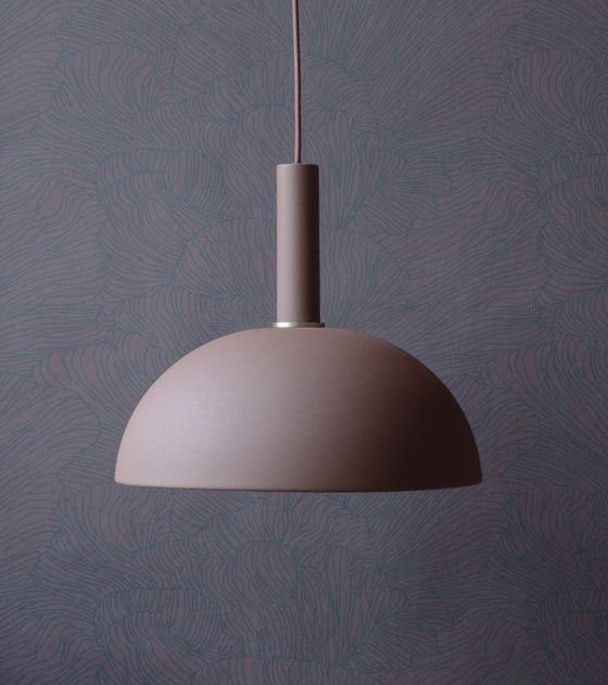 Ferm Living Collect Lighting contemporary pendant light in dusty pink