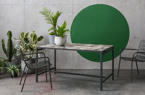 MADE Vitti grey dining table for indoors/outdoors