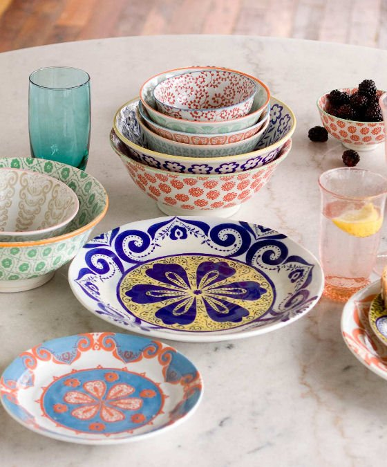 Colourful tableware from Anthropologie ... & Colourful tableware and quirky kitchenalia from Anthropologie