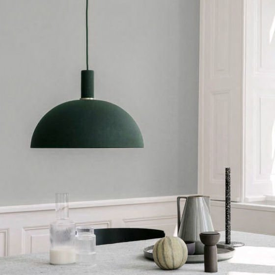 Ferm Living Collect Lighting green and brass contemporary pendant light
