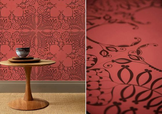 Bespoke decorative leather for interiors by genevieve bennett