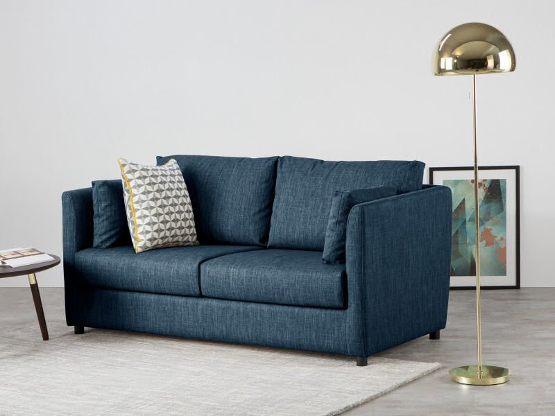 Milner blue sofa bed for small spaces