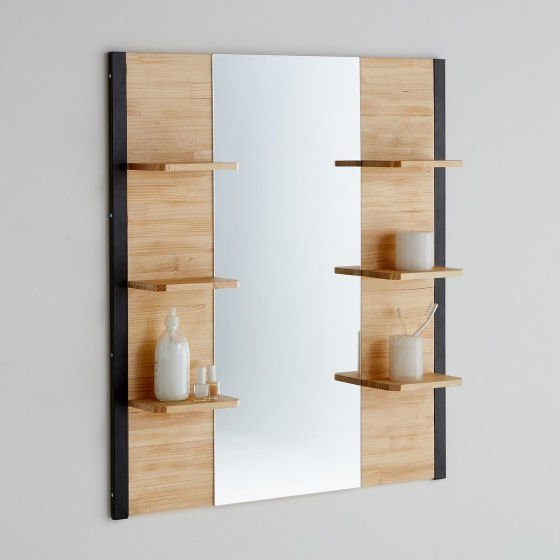 Bathroom mirror with shelves from La Redoute