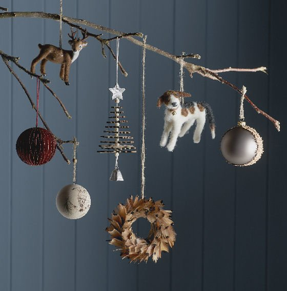 John Lewis christmas decorations Highland Myths collection