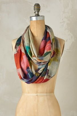 Abstract Paint Loop Scarf