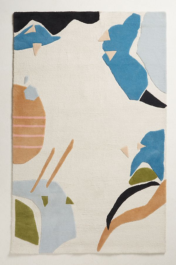 Abstracted Terrazzo Rug, Anthropologie