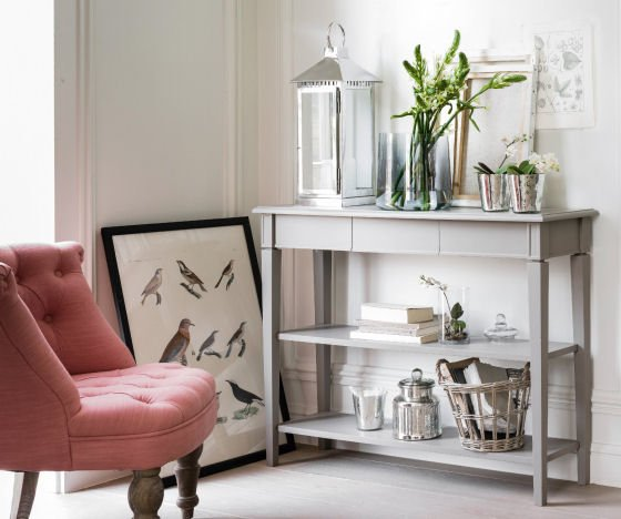 Adelia 2-shelf console table with storage