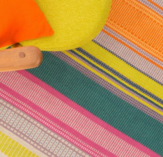 Colourful handwoven Eco Rugs by Angie Parker Textiles
