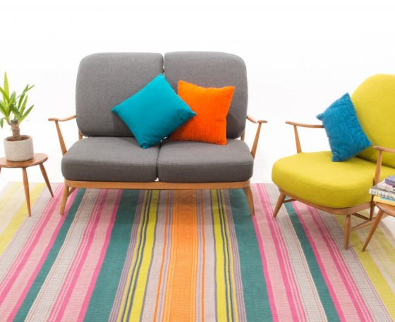 Angie Parker's limited edition handwoven eco rug for indoor and outdoor use