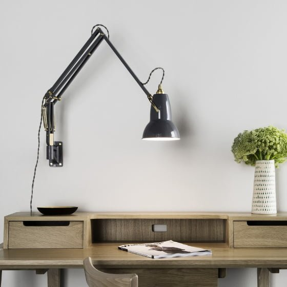 Desk Light Wall Mounted: The Anglepoise Original 1227 Brass Collection • Colourful