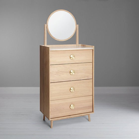 Genevieve Tallboy Unit with Mirror by Bethan Gray for John Lewis