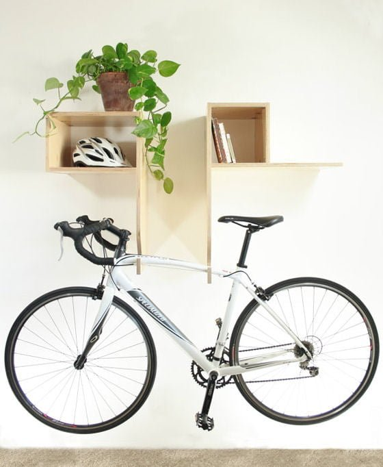 Bixby Bike Rack Wall Shelf storage solution for small spaces