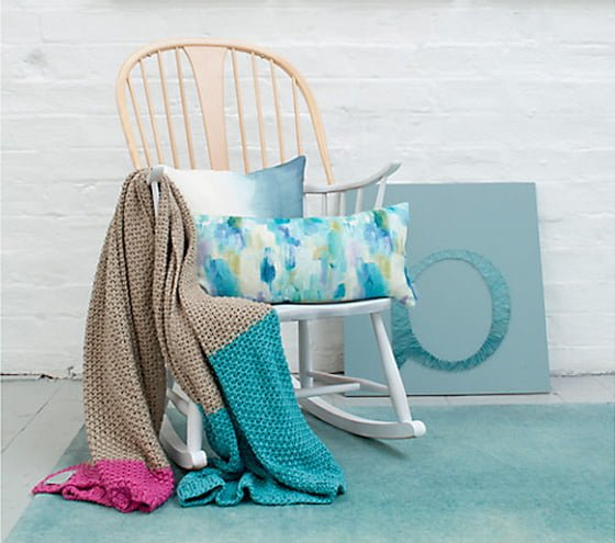 Bluebellgray Knitted throw J Lewis