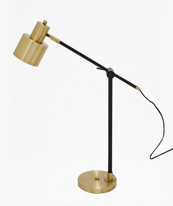 French Connection Brass and Matte Black Table Lamp