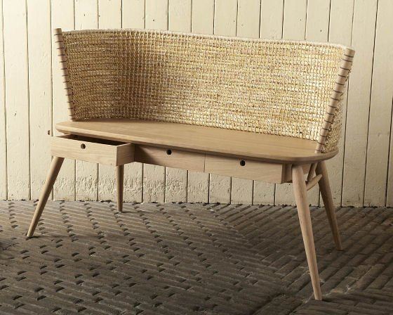 Reworked Orkney Chair   The Straw Backed Brodgar Bench