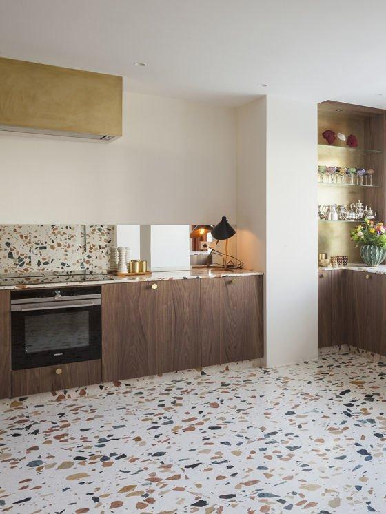 Marmoreal terrazzo kitchen floor