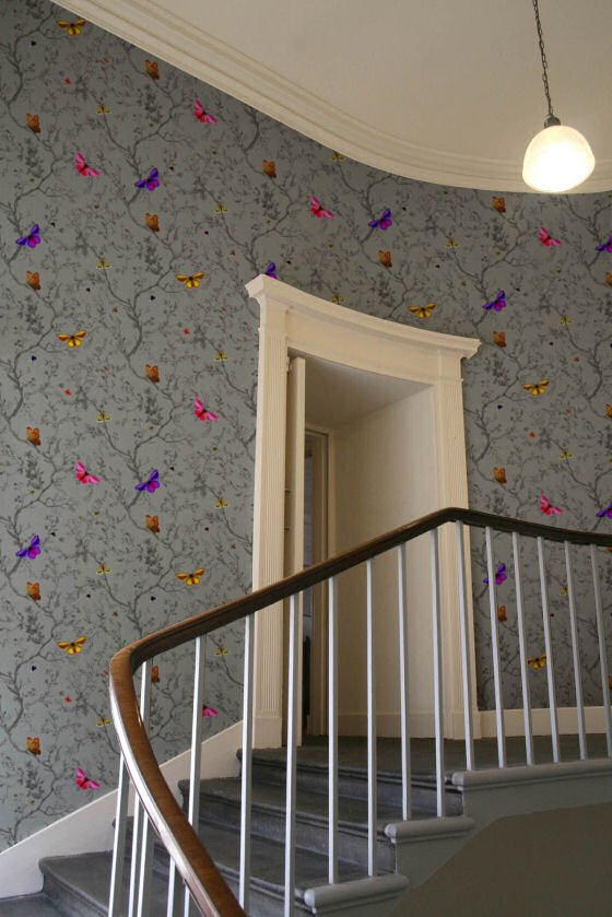 New wallpaper designs from Timorous Beasties • Colourful ... Wallpapers Of Butterflies