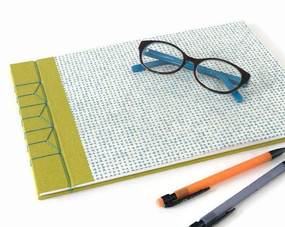 Japanese Stab Binding on Sketchbook/Journal by Aqua Handmade Books