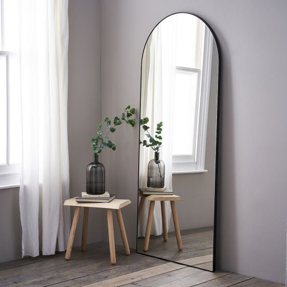 The White Company Chiltern Thin Metal Arched Mirror
