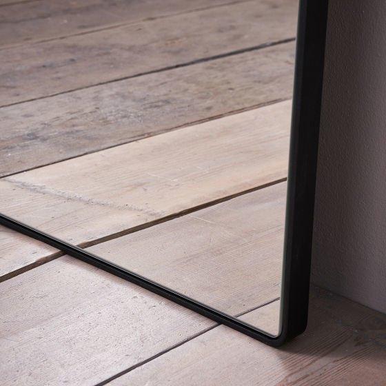 Chiltern Thin Metal Mirror Collection - detail of metal mirror frame corner