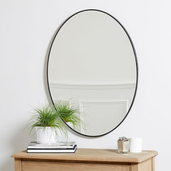 The White Company Chiltern  Thin Metal Oval Mirror