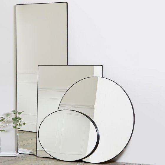 Chiltern Thin Metal Mirror Collection from The White Company
