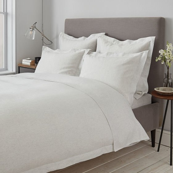 Clarendon Collection cotton and silk luxury bedlinen for summer from The White Company