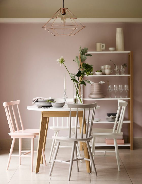 LOFT collection of furniture for small spaces, Brandshaw dining table and chairs