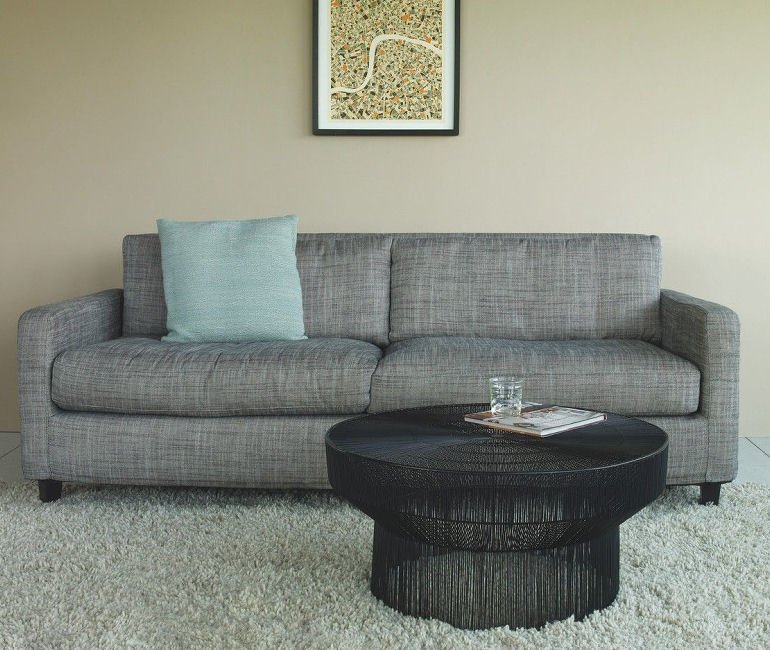 Habitat Grey Fabric Chester Sofa for small spaces