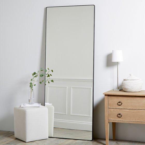 The White Company Chiltern  Thin Metal Rectangular Mirror