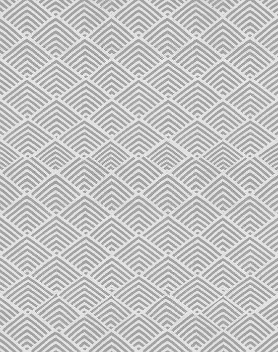 Geometric outdoor rug design Cleo in Cement grey by Dash & Albert
