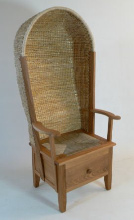 Ladies Orkney chair with drawer by Kevin Gauld of the Orkney Furniture Maker