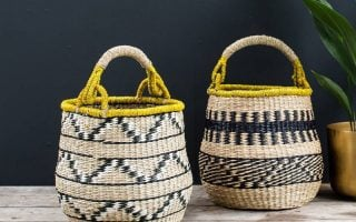 Decorative Storage Baskets in woven seagrass