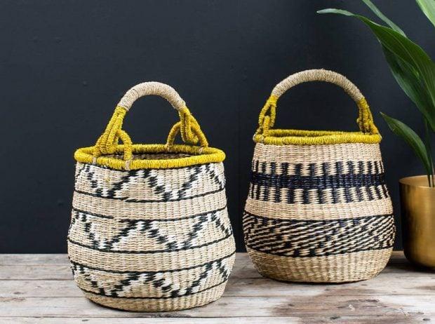 Decorative Storage Baskets in woven seagrass