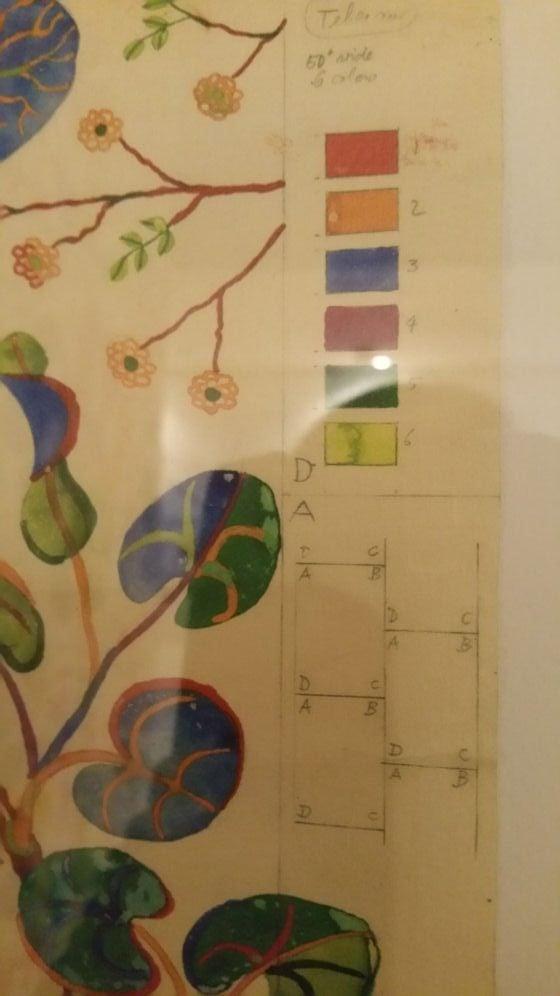 Detail of Josef Frank textile design artwork