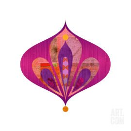 Pink and purple Droplet 03 giclee print by Rex Ray from Art.com